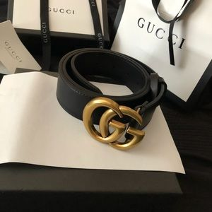 Women's Gucci belt gold gg buckle